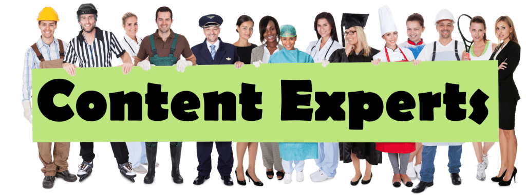 Content Experts - You Can Be You Too!