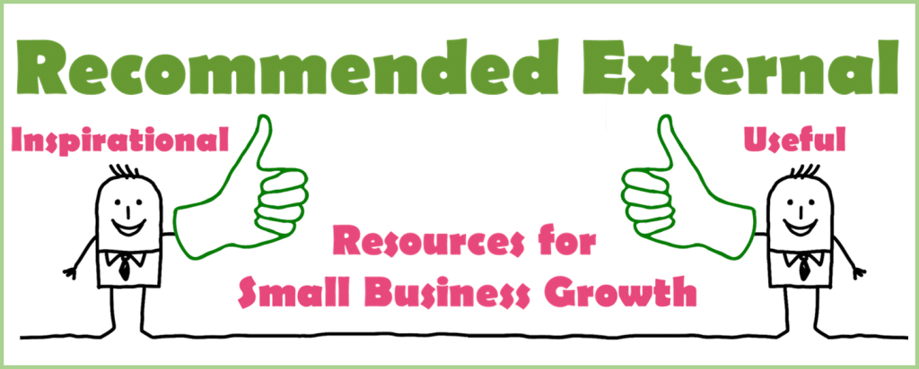 Recommended External Resources – For Small Business Growth