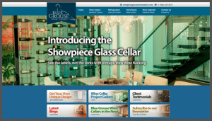 Click here to see the live Blue Grouse Wine Cellars Vancouver Canada Website Design