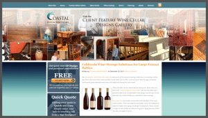 Click here to see the live Coastal Custom Wine Cellars California Website Design