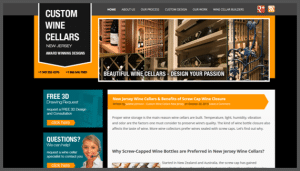 Click here to see the live Custom Wine Cellars New Jerseyr Website Design