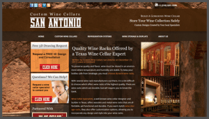 Click here to see the live Custom Wine Cellars San Antonio Website Design