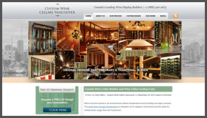 Click here to see the live Custom Wine Cellars Vancouver Canada Website Design