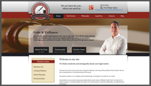 Click here to see the live Gale and Vallance Website Design
