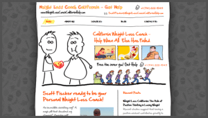 Click here to see the live Weight Loss Coach California Help Website Design