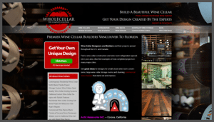 Click here to see the live WholeCellar Website Design