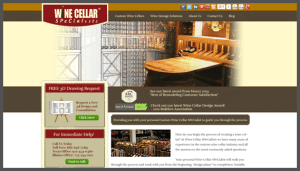 Click here to see the live Wine Cellar Specialists Dallas and Chicago Website Design