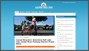 Click here to see the live Electric Bikes Utah Website Design