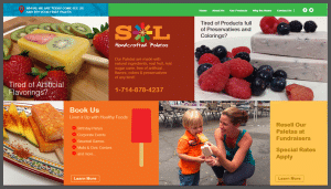 Click here to see the live Sol Paletas Orange County California Website Design