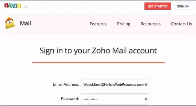 Adding your zoho mail to your apple mail application step 1 log in to zoho mail stopboris Gallery