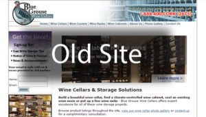 Click here to see the old Blue Grouse Wine Cellars Website Design