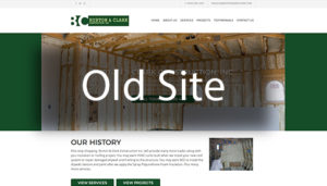 Click here to see the old Burton and Clark Website Design