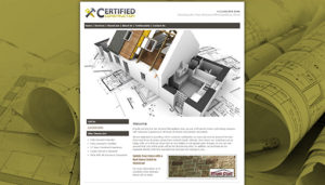 Click here to see the old Certified of Texas Website Design