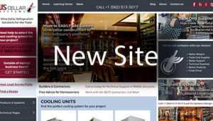 Click here to see the live US Cellar Systems Website Design