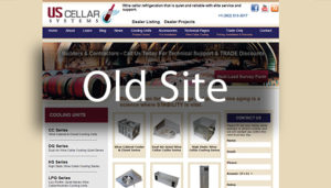 Click here to see the old US Cellar Systems Website Design