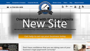 Click here to see the live Incorportion Attorney Website Design