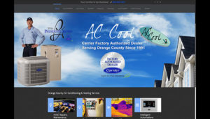 Click here to see the old AC Cool Website Design