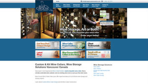 Click here to see the live Blue Grouse Wine Cellars Website Design