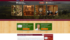 Click here to see the live Custom Wine Cellars Chicago Website Design