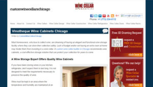 Click here to see the old Custom Wine Cellars Chicago Website Design