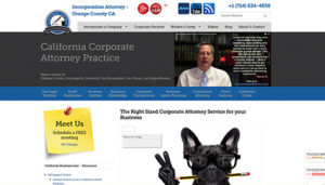 Click here to see the old Incorporation Attorney Website Design