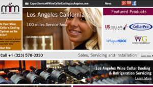 Click here to see the live MandM Cellar Systems Los Angeles Website Design
