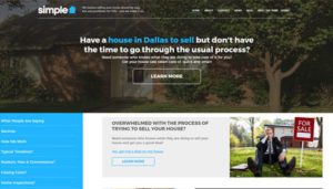 Click here to see the live Simple House Solutions Website Design