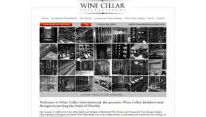 Click here to see the old Wine Cellar International Florida Website Design